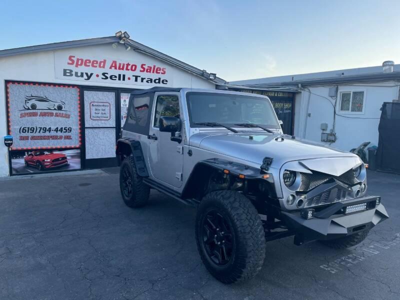 2015 Jeep Wrangler for sale at Speed Auto Sales in El Cajon CA