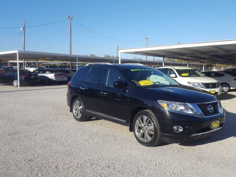 2015 Nissan Pathfinder for sale at Bostick's Auto & Truck Sales in Brownwood TX