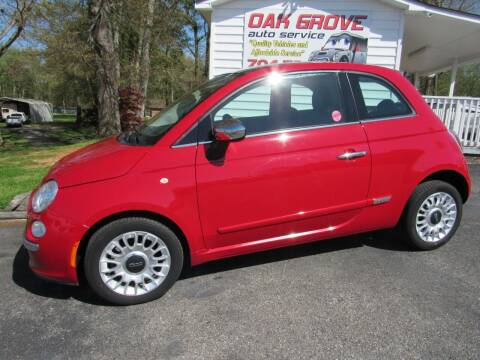 2012 FIAT 500 for sale at Oak Grove Auto Sales in Kings Mountain NC