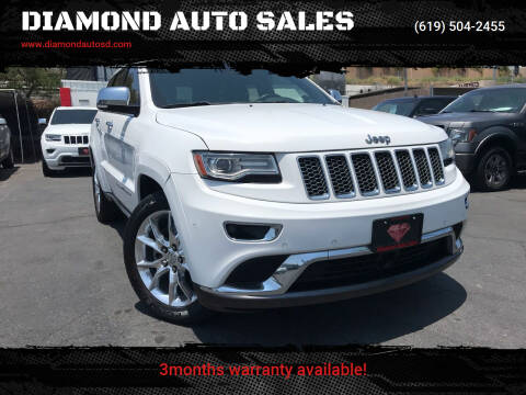 2014 Jeep Grand Cherokee for sale at DIAMOND AUTO SALES in El Cajon CA