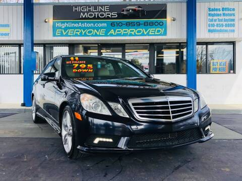 2011 Mercedes-Benz E-Class for sale at Highline Motors in Aston PA