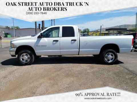 2004 Dodge Ram Pickup 2500 for sale at Oak Street Auto DBA Truck 'N Auto Brokers in Pocatello ID