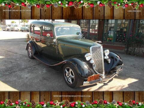 1934 Ford SEDAN for sale at MOTION TREND AUTO SALES in Tomball TX