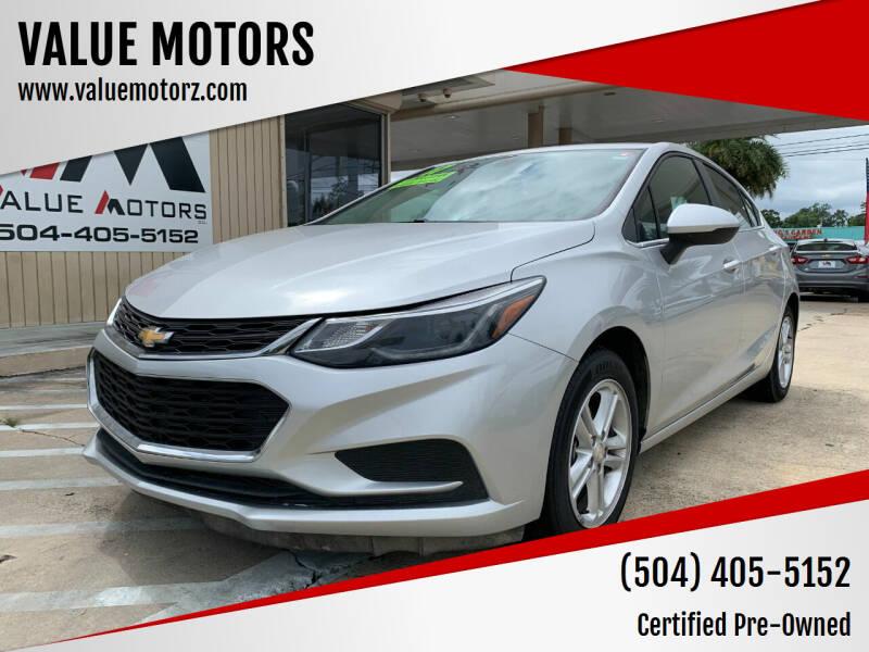 2017 Chevrolet Cruze for sale at VALUE MOTORS in Kenner LA