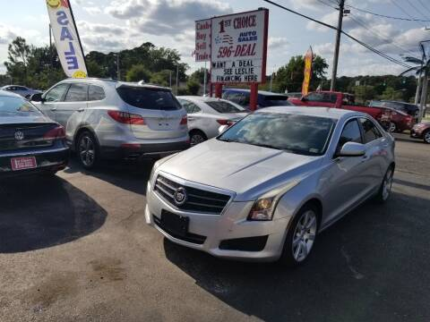 2014 Cadillac ATS for sale at 1st Choice Auto Sales in Newport News VA