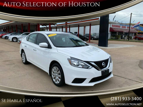 2016 Nissan Sentra for sale at Auto Selection of Houston in Houston TX