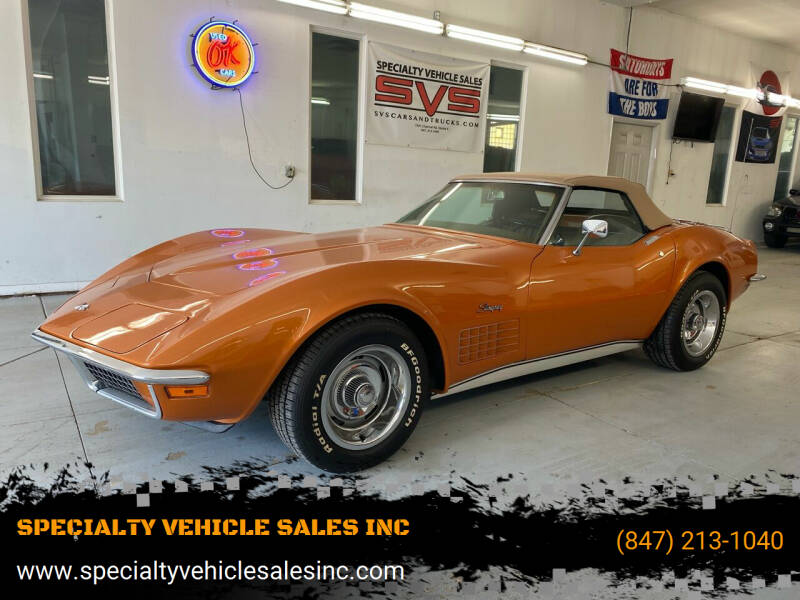 1972 Chevrolet Corvette for sale at SPECIALTY VEHICLE SALES INC in Skokie IL