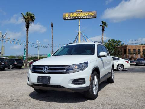 2017 Volkswagen Tiguan for sale at A MOTORS SALES AND FINANCE - 5630 San Pedro Ave in San Antonio TX