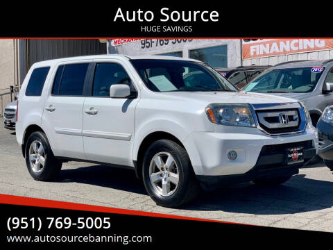 2011 Honda Pilot for sale at Auto Source in Banning CA