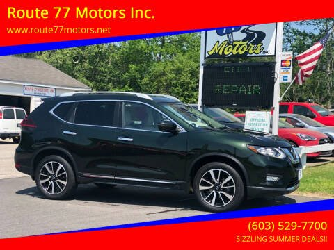 2019 Nissan Rogue for sale at Route 77 Motors Inc. in Weare NH