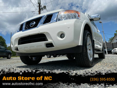 2008 Nissan Armada for sale at Auto Store of NC in Walkertown NC