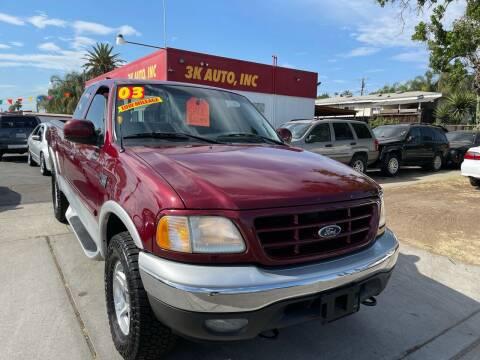 2003 Ford F-150 for sale at 3K Auto in Escondido CA