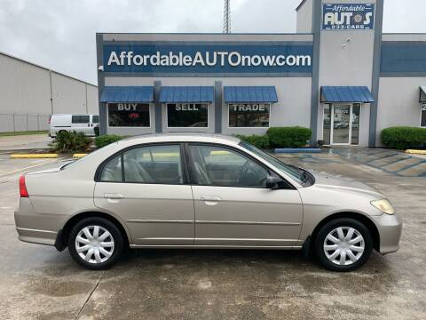 2005 Honda Civic for sale at Affordable Autos in Houma LA