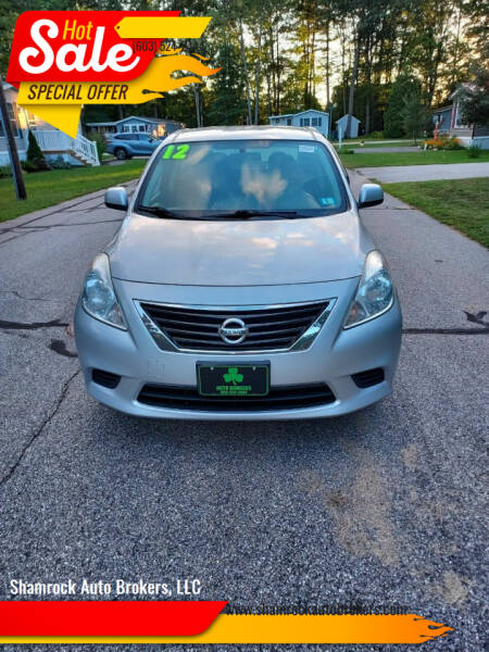 2012 Nissan Versa for sale at Shamrock Auto Brokers, LLC in Belmont NH