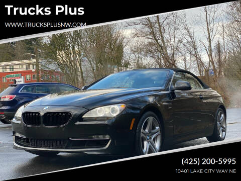 2012 BMW 6 Series for sale at Trucks Plus in Seattle WA