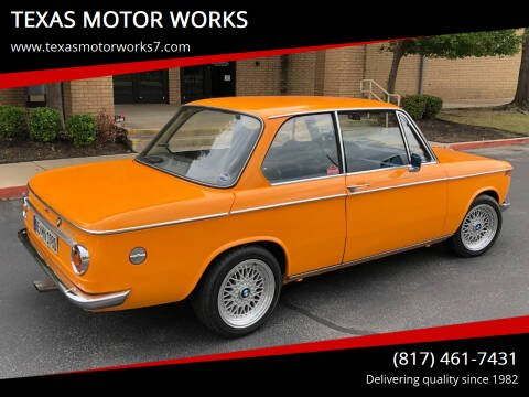 1968 BMW 2 Series for sale at TEXAS MOTOR WORKS in Arlington TX