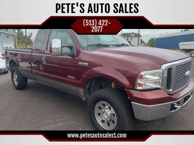 2007 Ford F-250 Super Duty for sale at PETE'S AUTO SALES - Middletown in Middletown OH