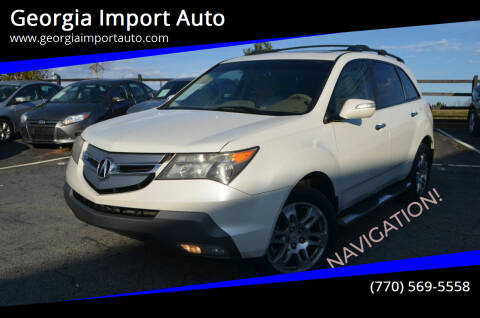 2009 Acura MDX for sale at Georgia Import Auto in Alpharetta GA