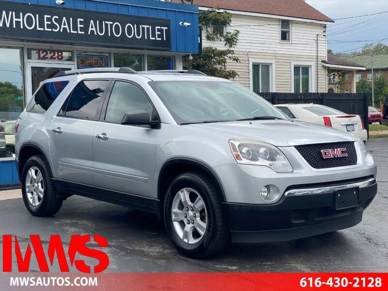 2012 GMC Acadia for sale at MWS Wholesale  Auto Outlet in Grand Rapids MI