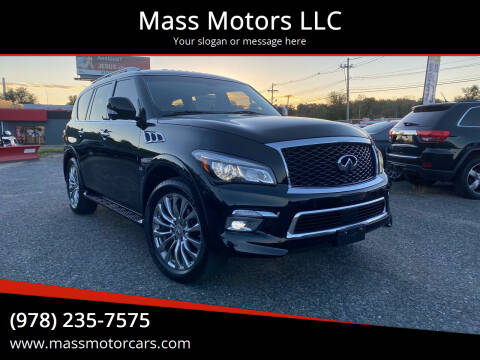 2016 Infiniti QX80 for sale at Mass Motors LLC in Worcester MA