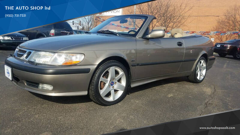 2002 Saab 9-3 for sale at THE AUTO SHOP ltd in Appleton WI