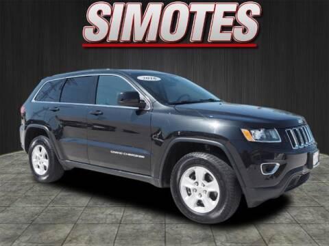 2016 Jeep Grand Cherokee for sale at SIMOTES MOTORS in Minooka IL