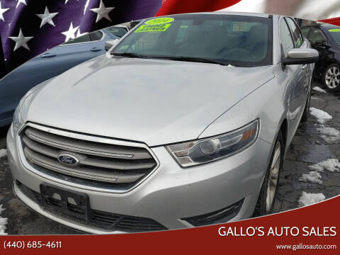 2014 Ford Taurus for sale at Gallo's Auto Sales in North Bloomfield OH
