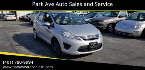 2012 Ford Fiesta for sale at Park Ave Auto Sales and Service in Cranston RI