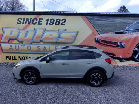2016 Subaru Crosstrek for sale at Pyles Auto Sales in Kittanning PA