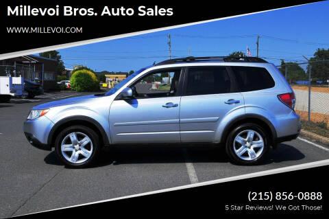 2010 Subaru Forester for sale at Millevoi Bros. Auto Sales in Philadelphia PA