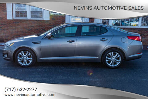 2013 Kia Optima for sale at Nevins Automotive Sales in Hanover PA