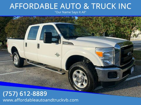 2016 Ford F-350 Super Duty for sale at AFFORDABLE AUTO & TRUCK INC in Virginia Beach VA