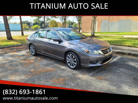 2015 Honda Accord for sale at TITANIUM AUTO SALE in Houston TX