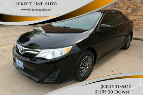 2013 Toyota Camry for sale at Direct One Auto in Houston TX