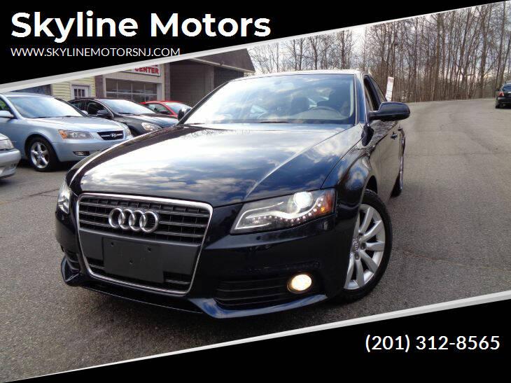 2011 Audi A4 for sale at Skyline Motors in Ringwood NJ