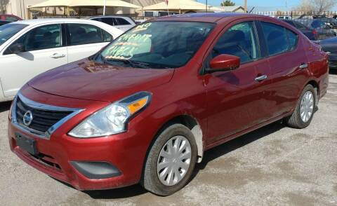 2016 Nissan Versa for sale at 4 U MOTORS in El Paso TX