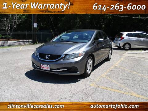 2013 Honda Civic for sale at Clintonville Car Sales in Columbus OH