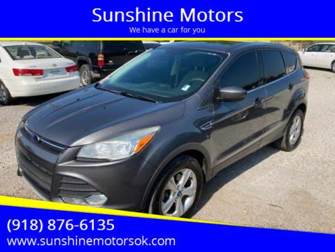 2013 Ford Escape for sale at Sunshine Motors in Bartlesville OK