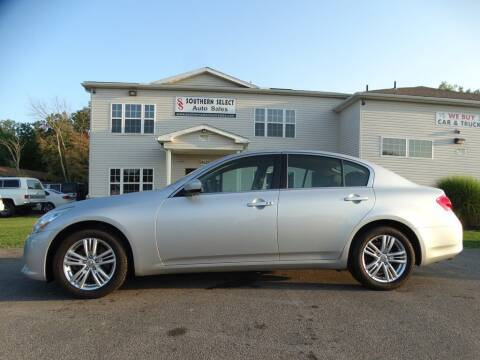 2013 Infiniti G37 Sedan for sale at SOUTHERN SELECT AUTO SALES in Medina OH