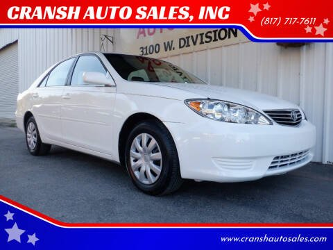 2006 Toyota Camry for sale at CRANSH AUTO SALES, INC in Arlington TX