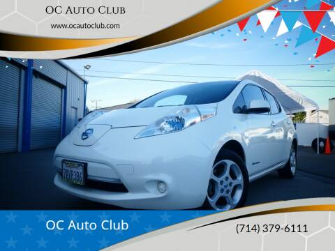 2013 Nissan LEAF for sale at OC Auto Club in Midway City CA
