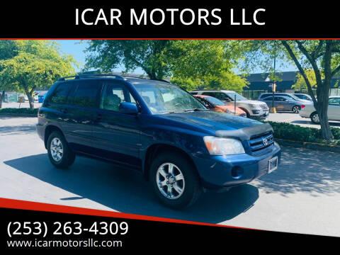 2005 Toyota Highlander for sale at ICAR MOTORS LLC in Federal Way WA