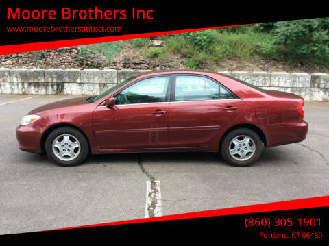2003 Toyota Camry for sale at Moore Brothers Inc in Portland CT