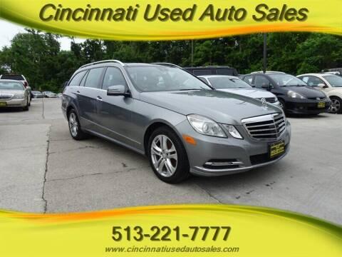 2011 Mercedes-Benz E-Class for sale at Cincinnati Used Auto Sales in Cincinnati OH