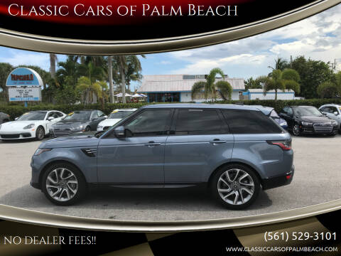 2019 Land Rover Range Rover Sport for sale at Classic Cars of Palm Beach in Jupiter FL