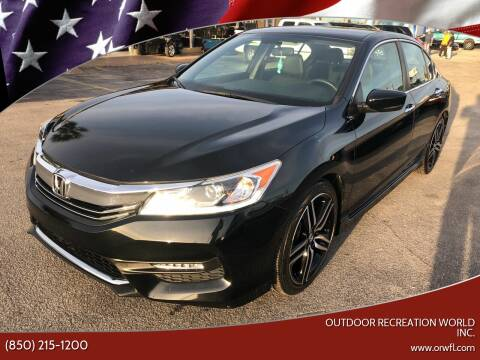 2017 Honda Accord for sale at Outdoor Recreation World Inc. in Panama City FL
