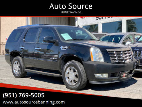 2007 Cadillac Escalade for sale at Auto Source in Banning CA