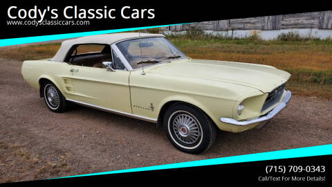 1967 Ford Mustang for sale at Cody's Classic Cars in Stanley WI