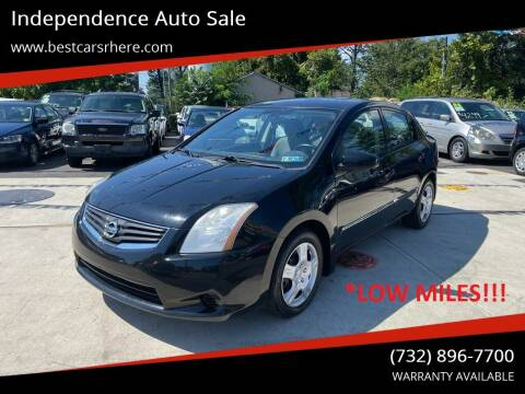 2012 Nissan Sentra for sale at Independence Auto Sale in Bordentown NJ
