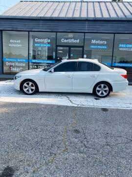 2008 BMW 5 Series for sale at Georgia Certified Motors in Stockbridge GA